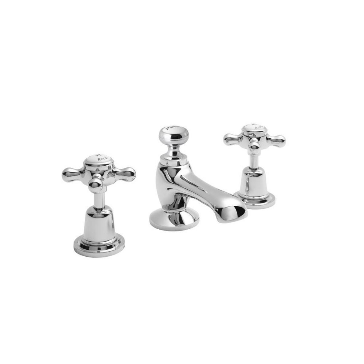 Hudson Reed Topaz Dome 3 Tap Hole Basin Mixer Tap