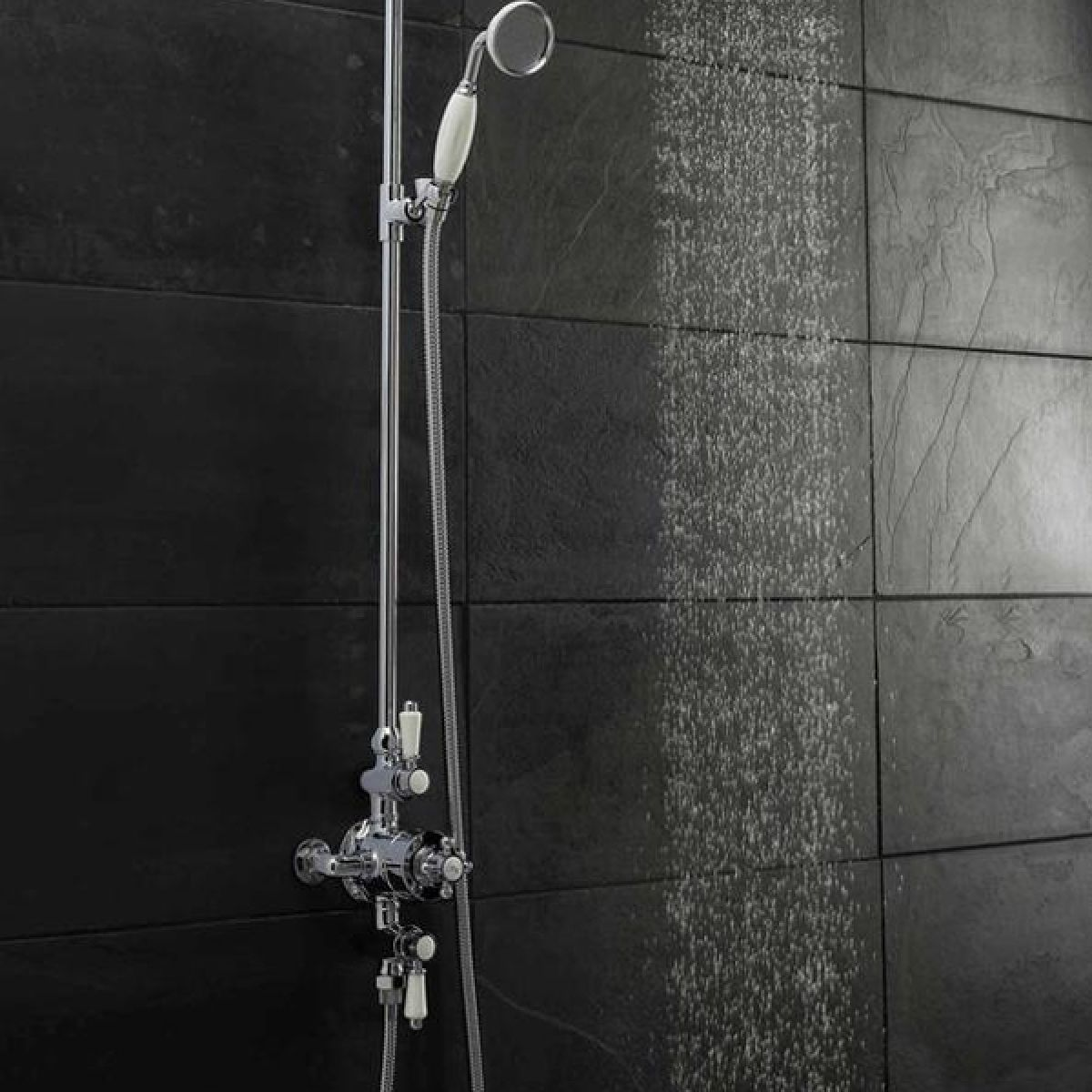 Ultra Victorian Traditional Triple Exposed Thermostatic Shower Valve