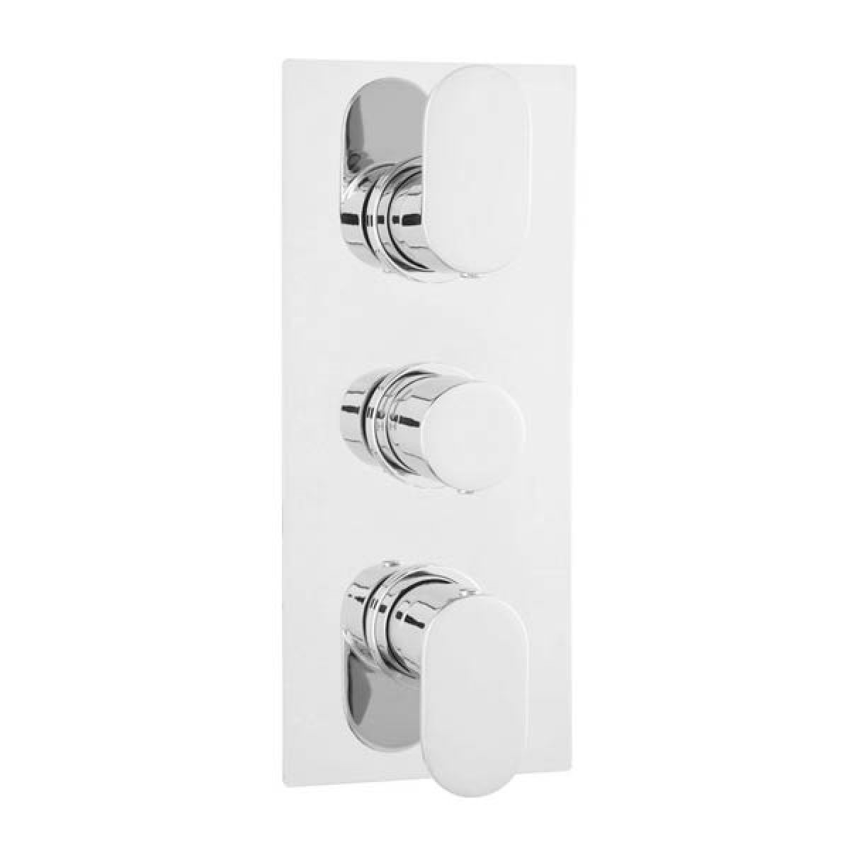 Hudson Reed Reign Rounded Triple Concealed Thermostatic Shower Valve with Diverter