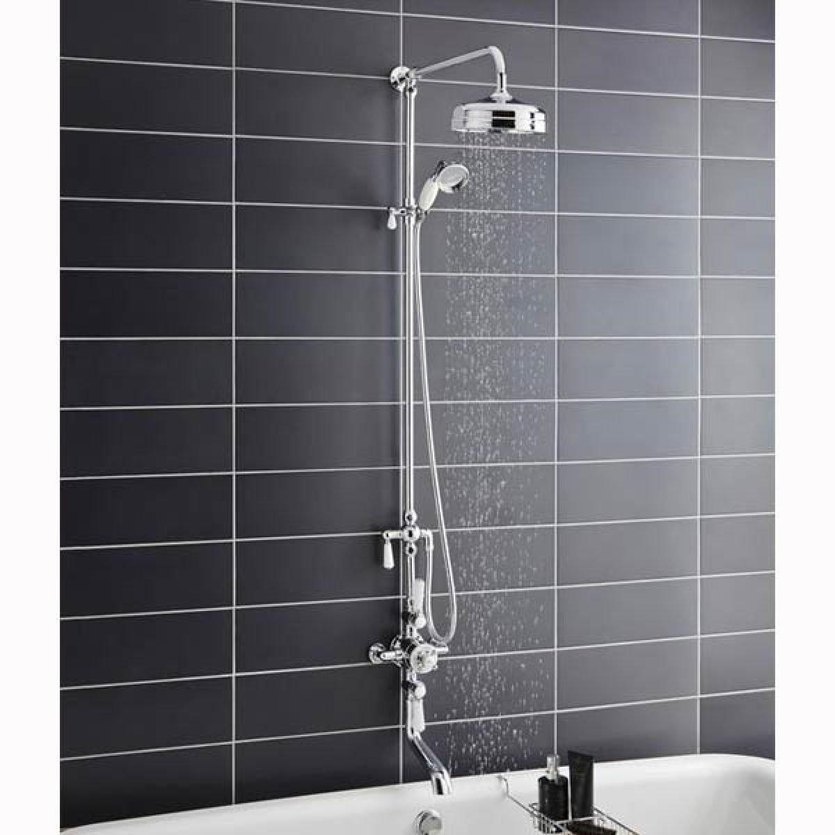 Hudson Reed Triple Thermostatic Shower Valve With Rigid Riser
