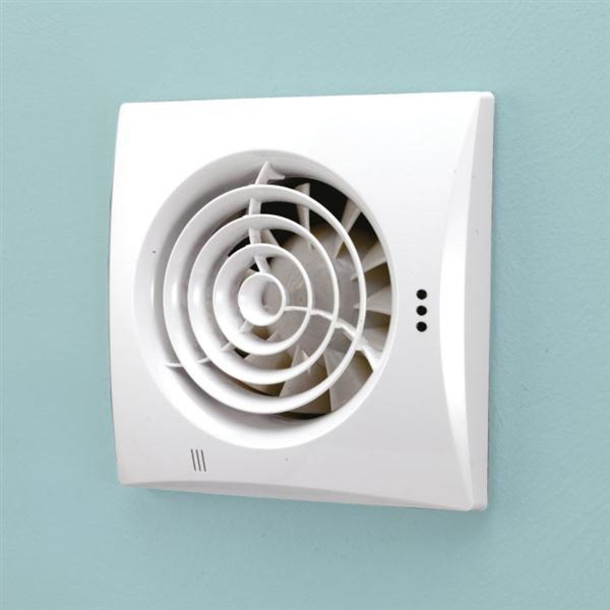 HiB Hush White Wall Mounted Wetroom Extractor Fan with Humidity Sensor