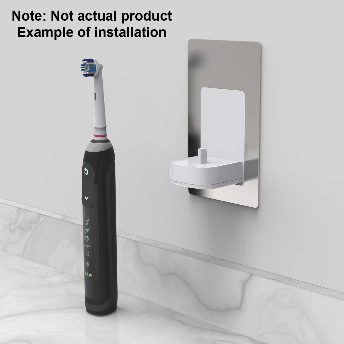 Example of a typical installation of an electric toothbrush charger