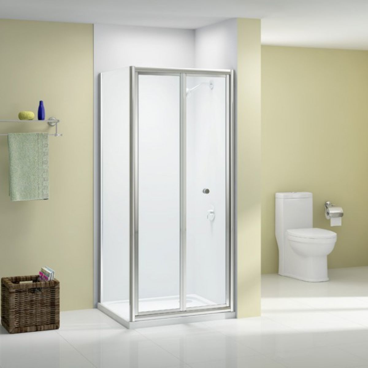 Merlyn Ionic Source Bifold Shower Door with Optional Side Panel