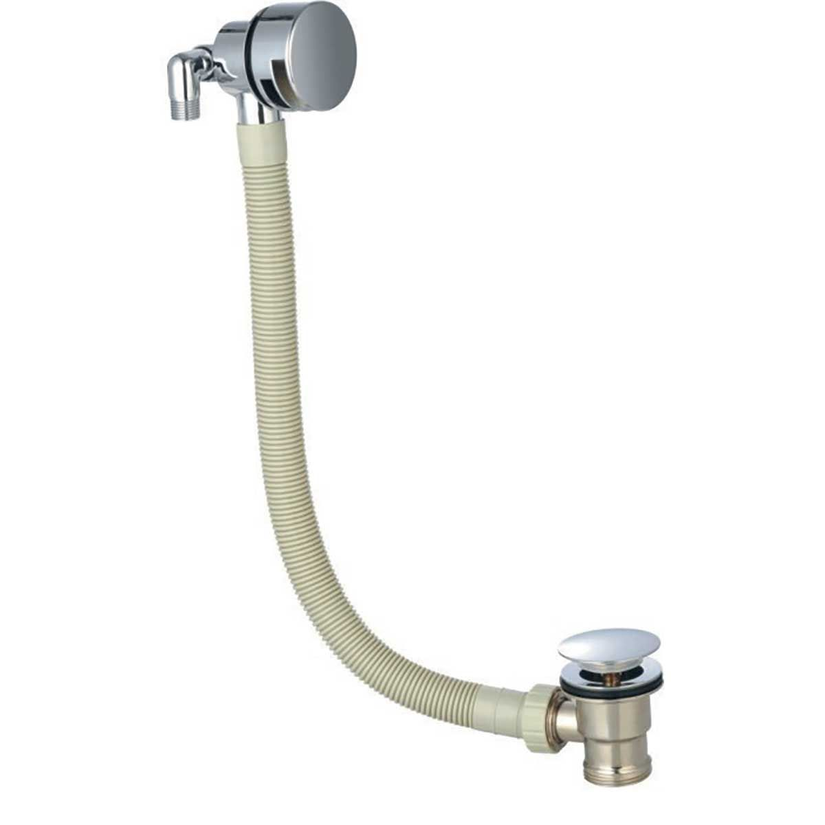 Kartell K-vit Chrome Bath Overflow Filler