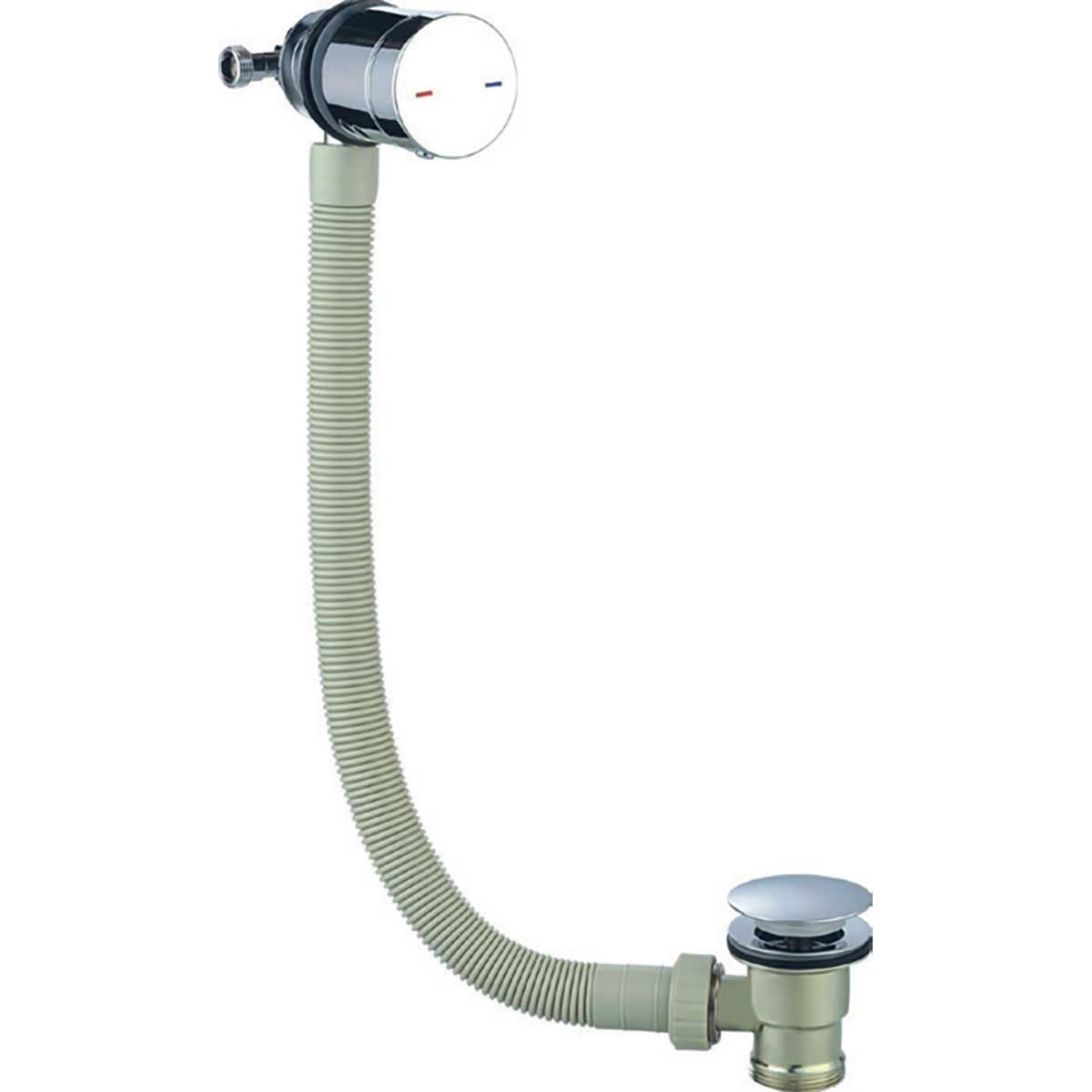 Kartell K-vit Chrome Bath Overflow Filling Valve With Waste