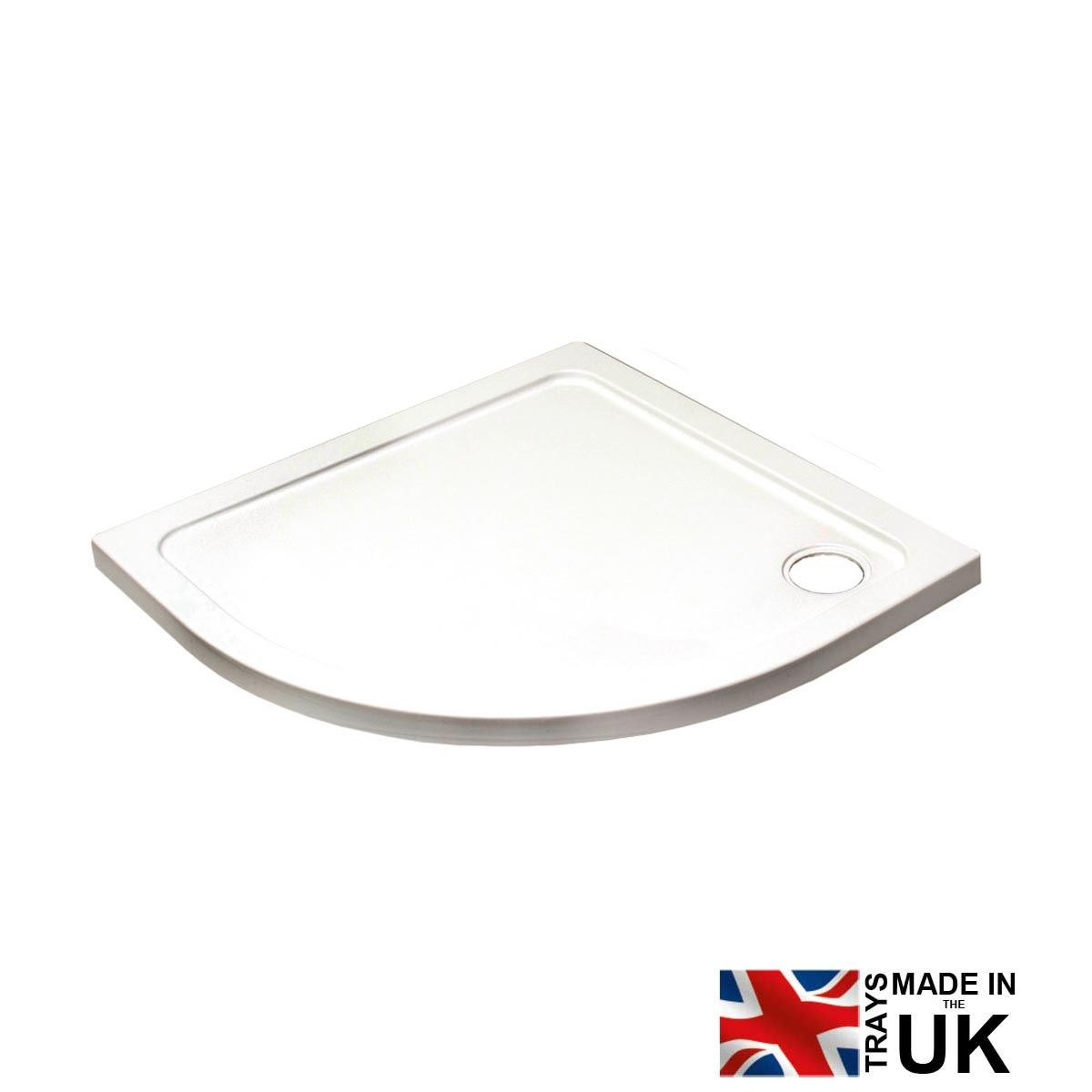 Kartell K-vit Low Profile Shower Quadrant Trays 800mm x 800mm