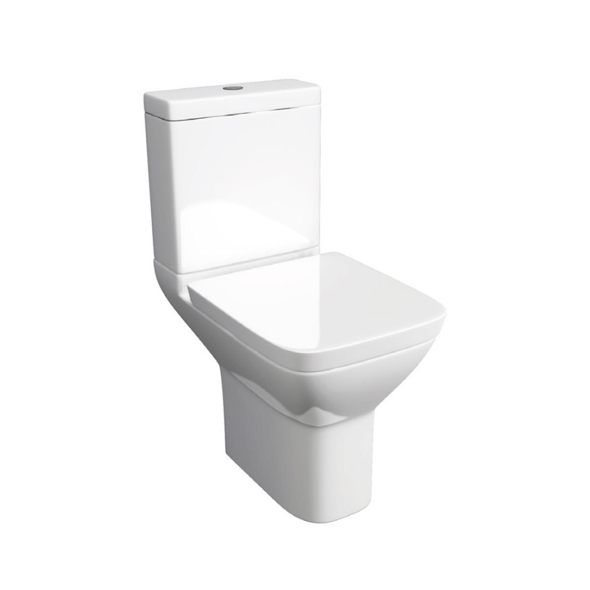 Kartell K-VIT Project Square Close Coupled Toilet with Soft Close Seat