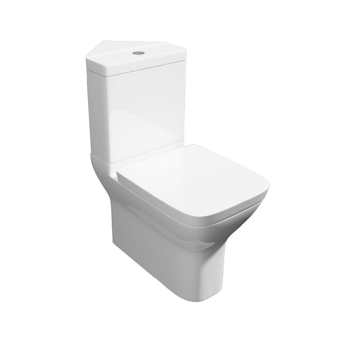 Kartell K-VIT Project Square Corner Close Coupled Toilet with Soft Close Seat