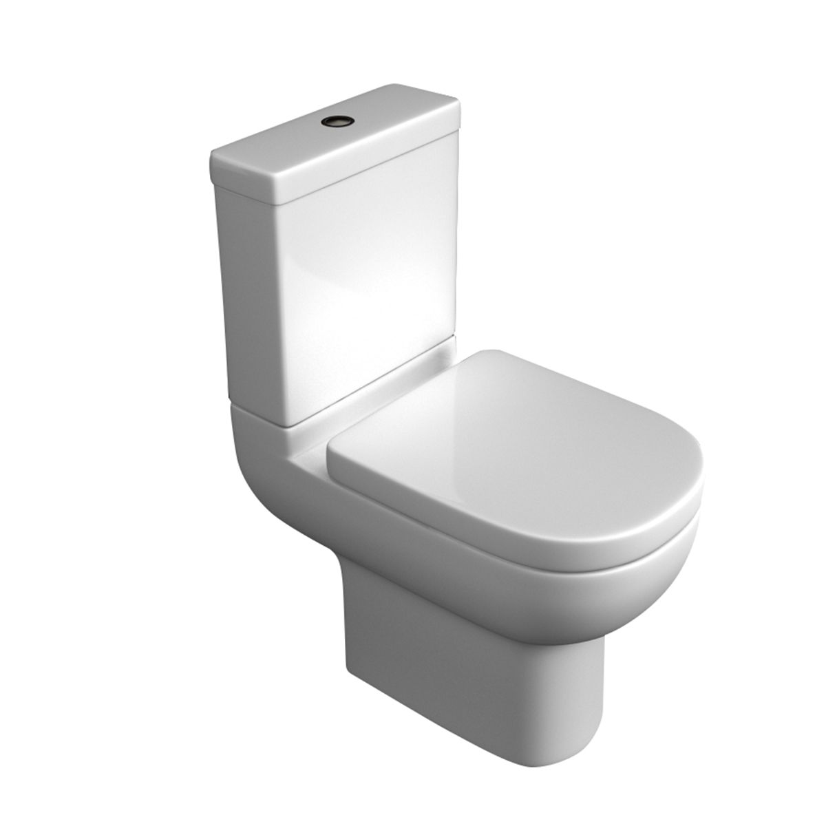 Kartell K-VIT Studio Close Coupled Toilet with Deluxe Soft Close Seat & Cover