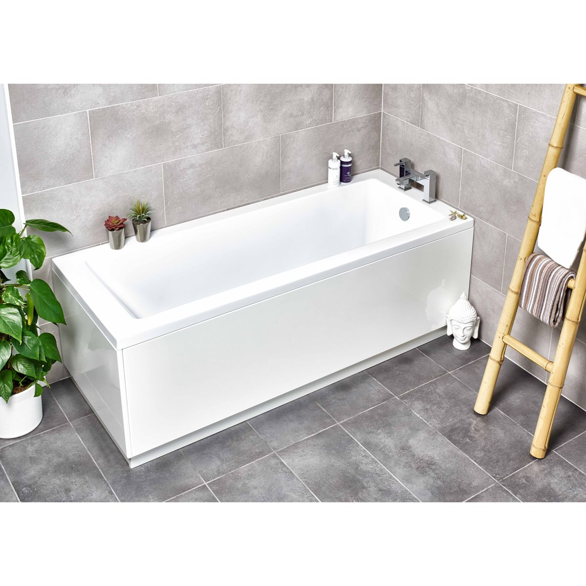 Kartell Options Single Ended Bath 1700 x 750mm Lifestyle