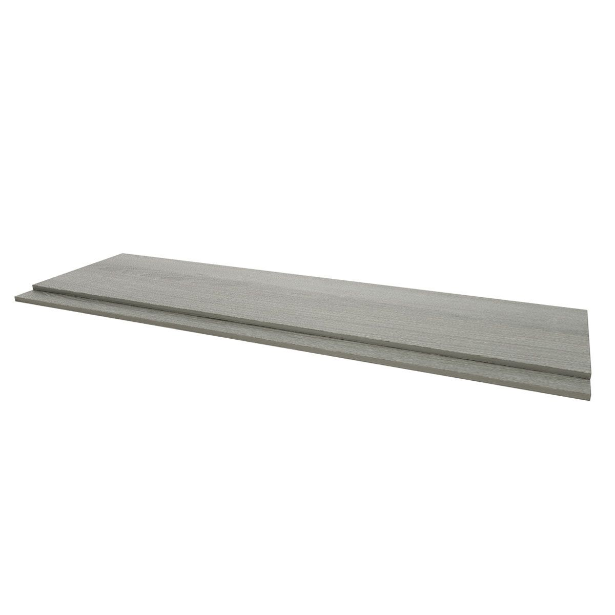 Kartell Purity Grey Ash 2 Piece Front Bath Panel 1800mm
