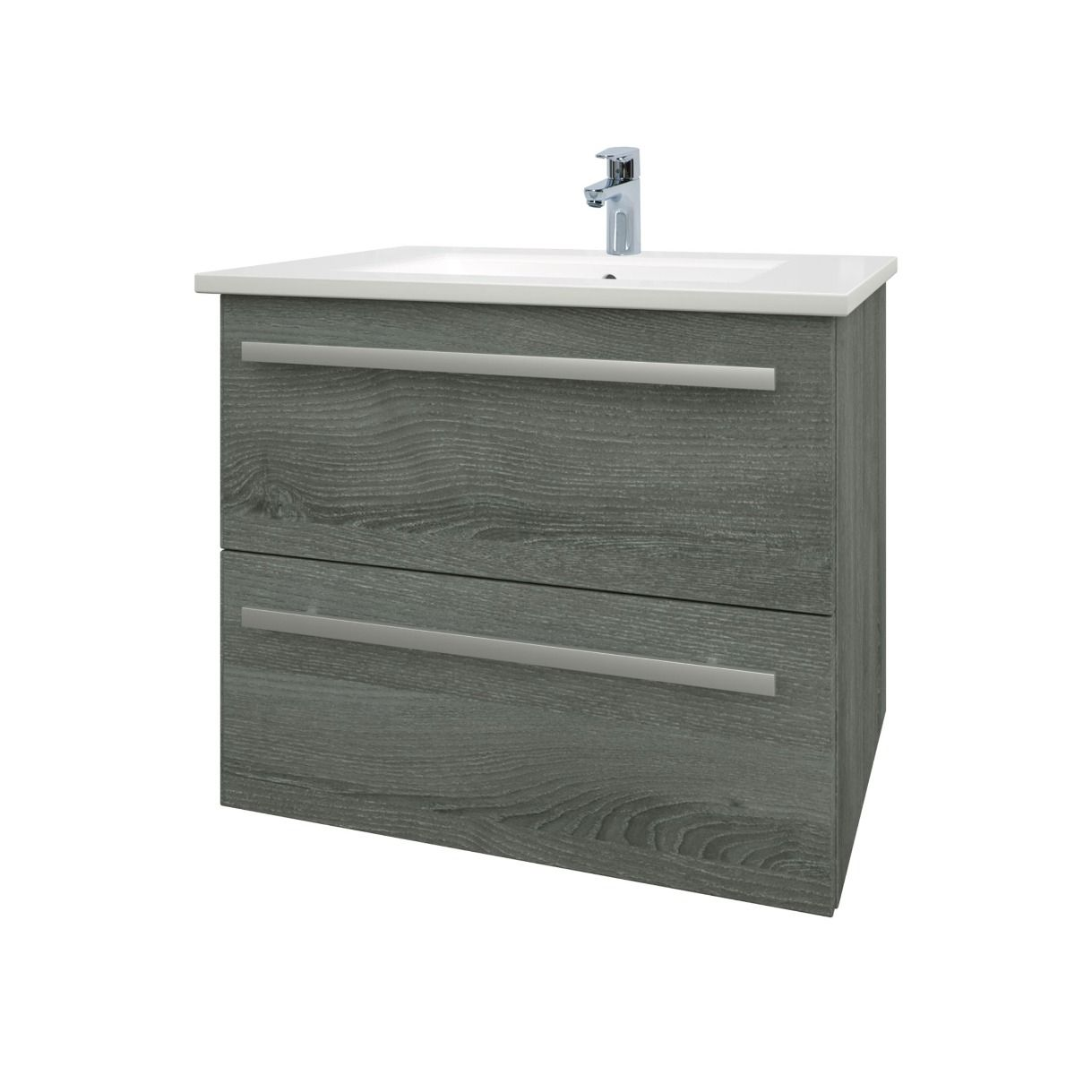Kartell Purity Grey Ash 2 Drawer Wall Mounted Vanity Unit 600mm