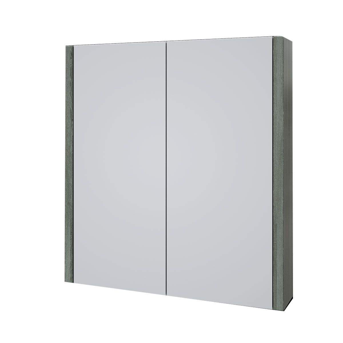 Kartell Purity Grey Ash Double Mirrored Bathroom Cabinet 600mm