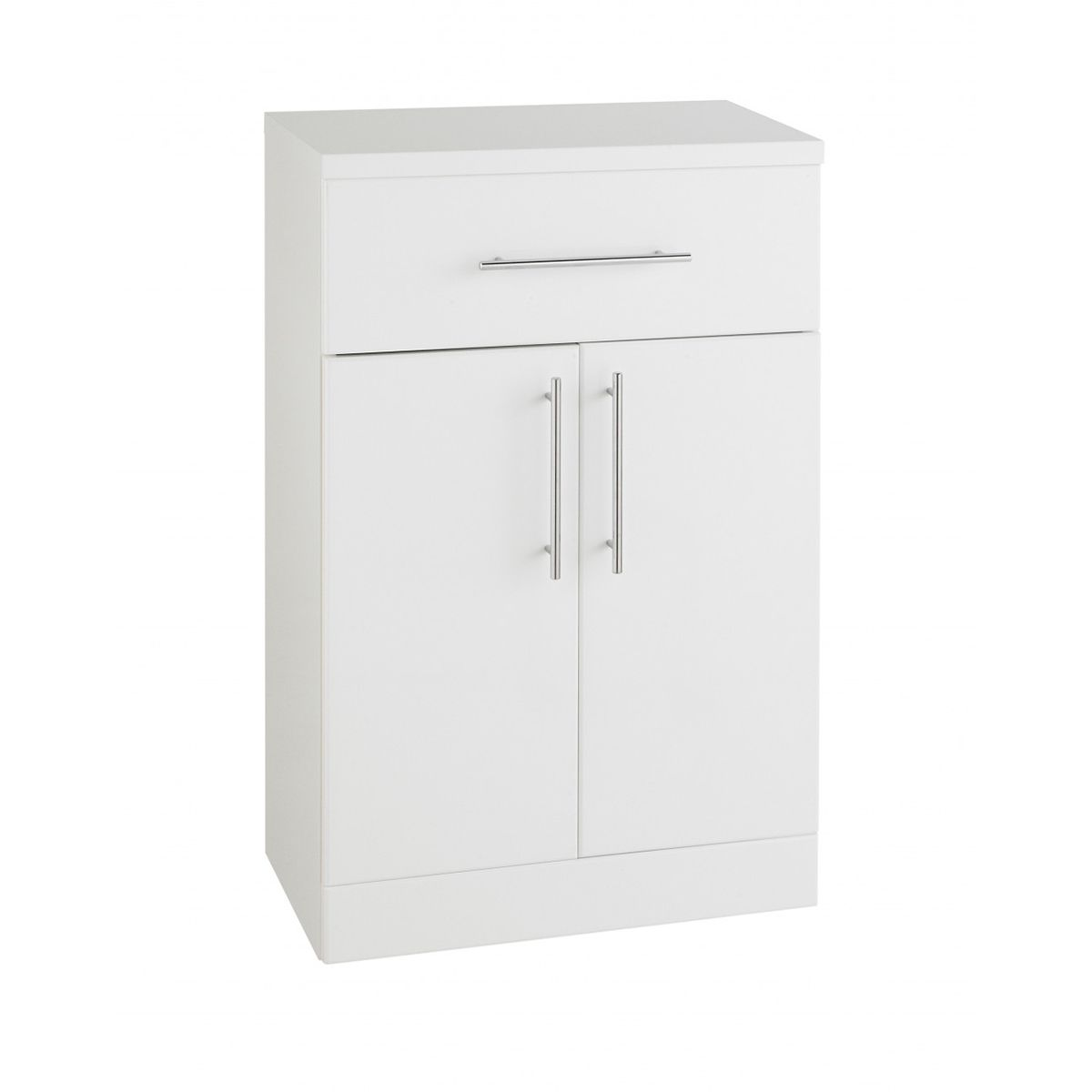 Kartell Encore White Double Door and Drawer Unit 500mm