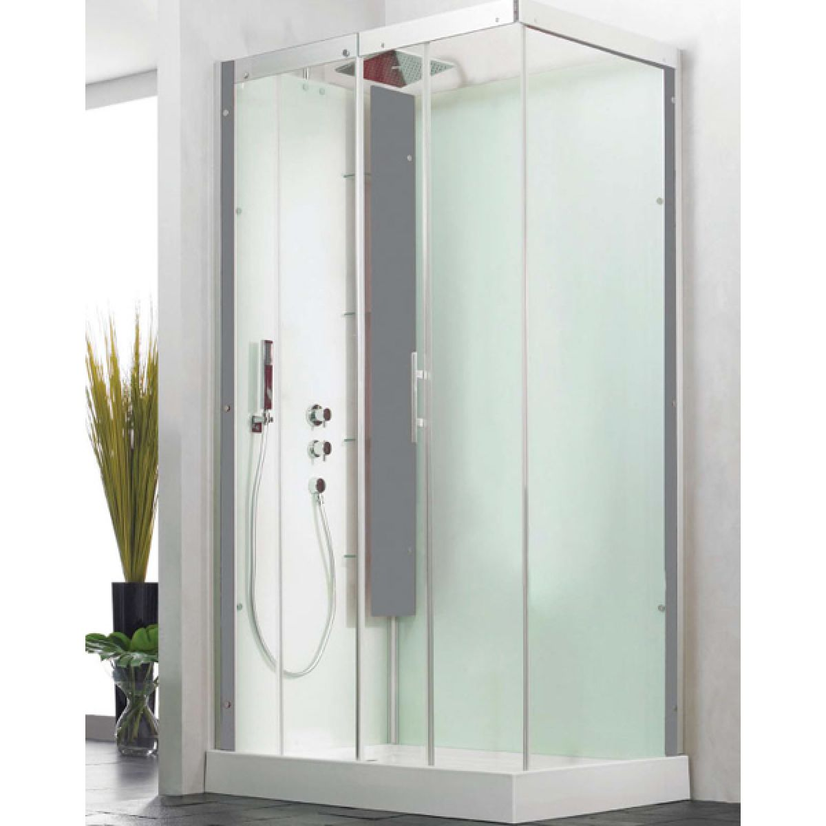Kinedo Horizon Thermostatic Pivot Corner Self Contained Shower Cubicle