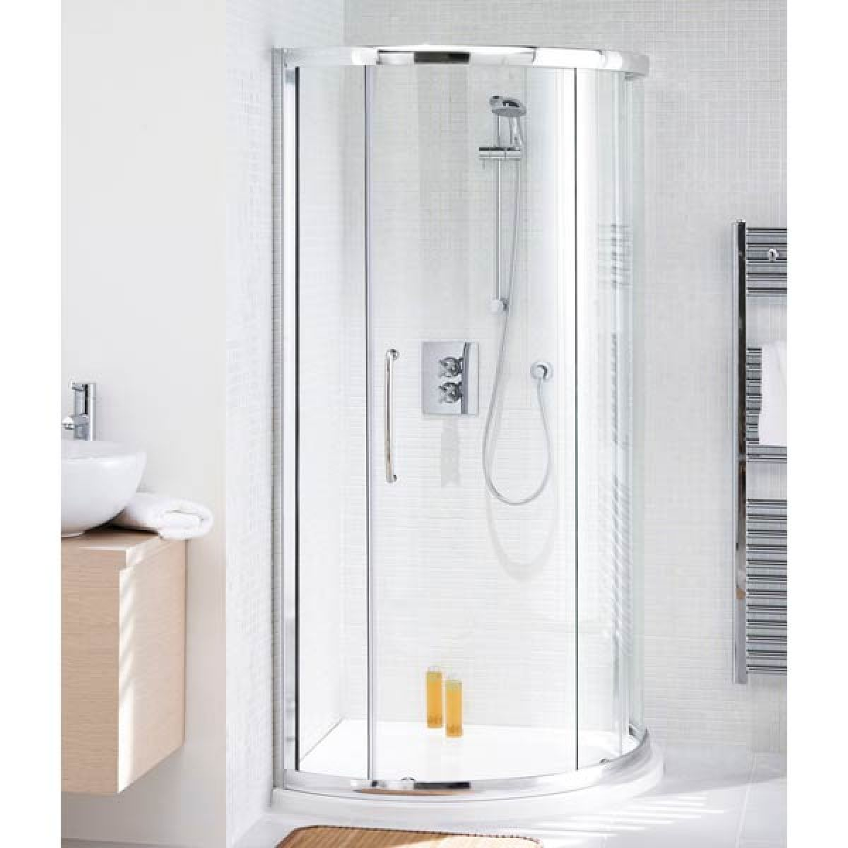 Lakes Silver Curved Corner Shower Enclosure