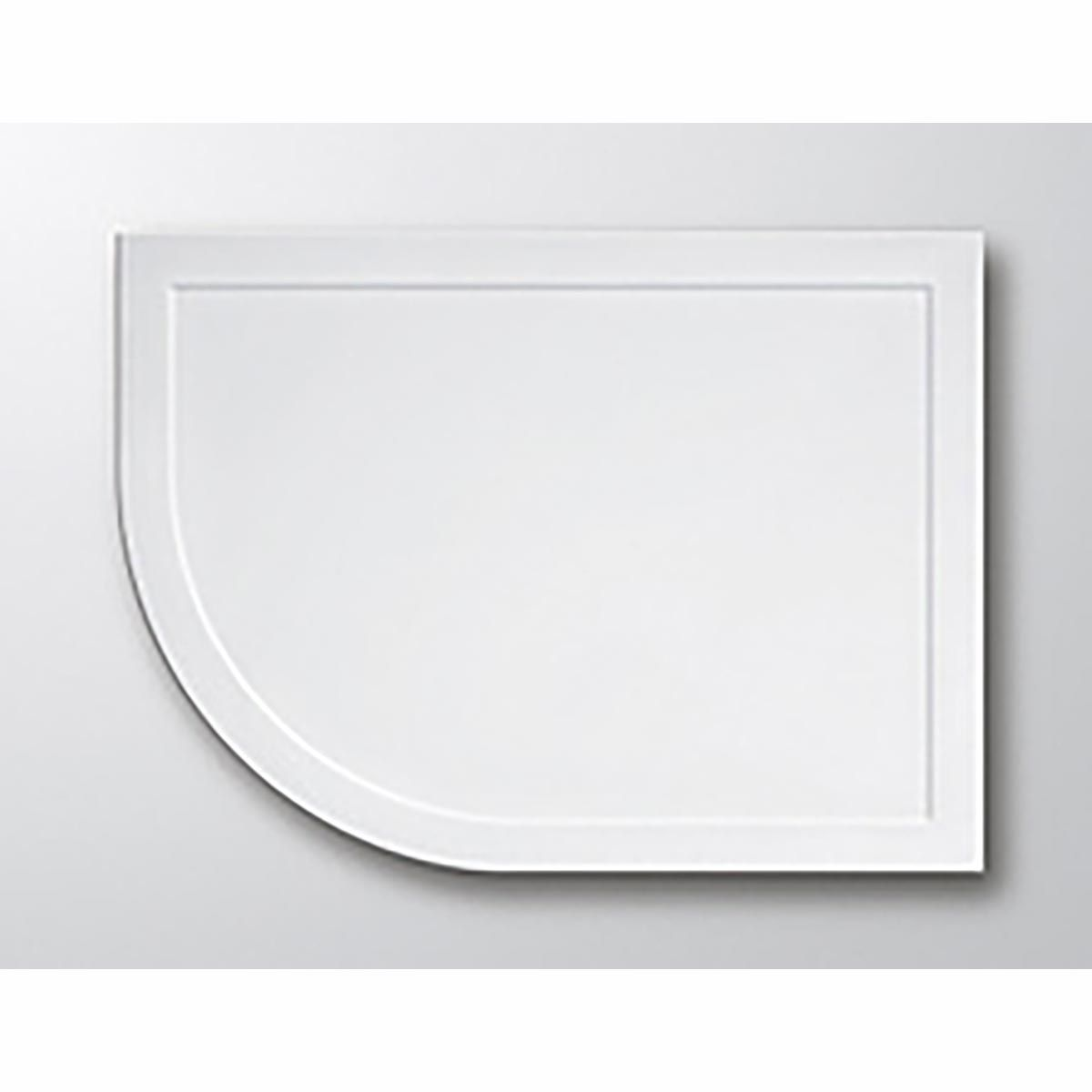 Lakes White Low Profile Offset Quadrant ABS Tray Left Hand 1000mm X 800mm