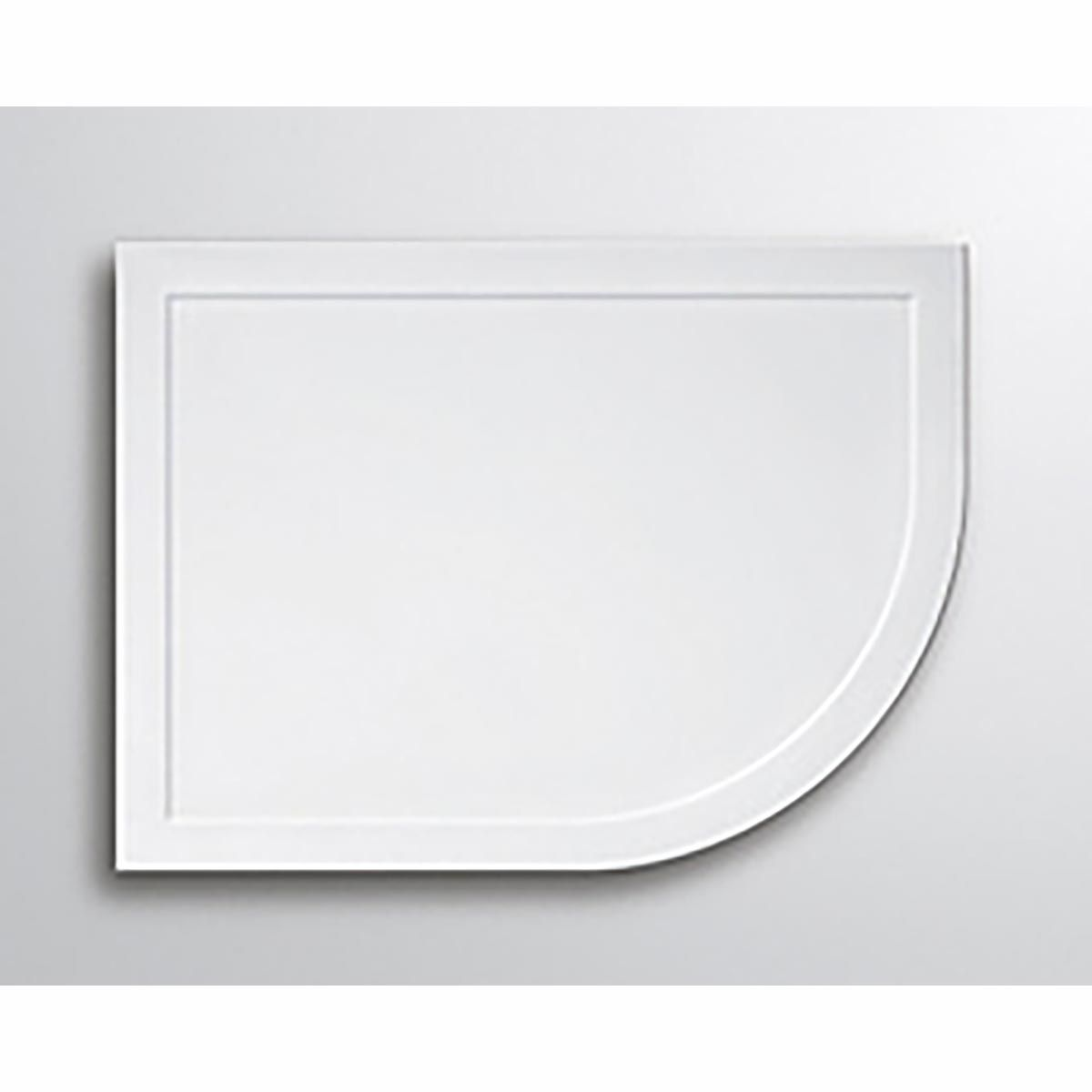 Lakes White Stone Resin/ABS Offset Quadrant Tray Left Hand 1000mm X 800mm