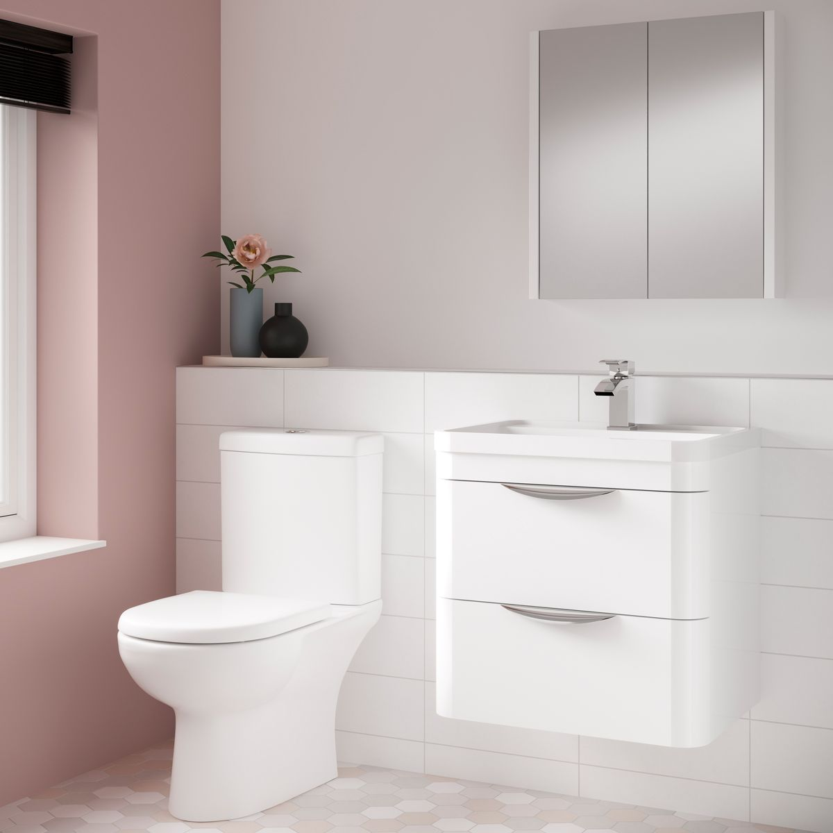Nuie Lawton Toilet and Parade Vanity Unit Set