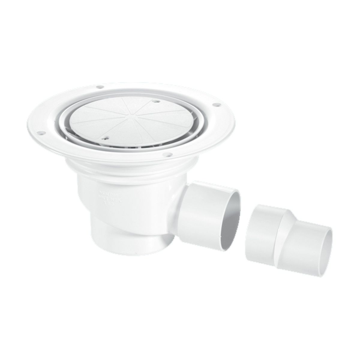 McAlpine TSG1-WH 75mm Water Seal Trapped Gully White Plastic Clamp Ring and Cover Plate