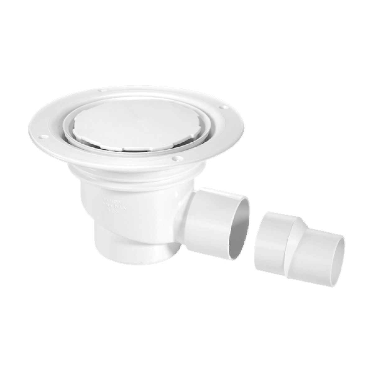 McAlpine TSG1WH-NC 75mm Water Seal Trapped Gully White Plastic Clamp Ring and Cover Plate