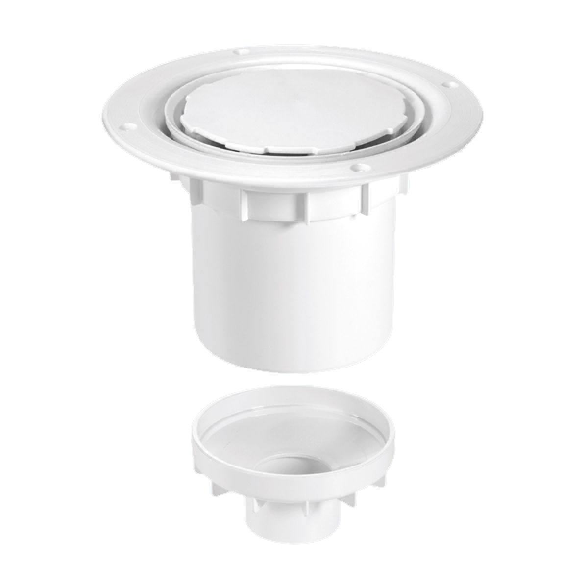 McAlpine TSG2WH-NSC 75mm Water Seal Trapped Gully White Plastic Clamp