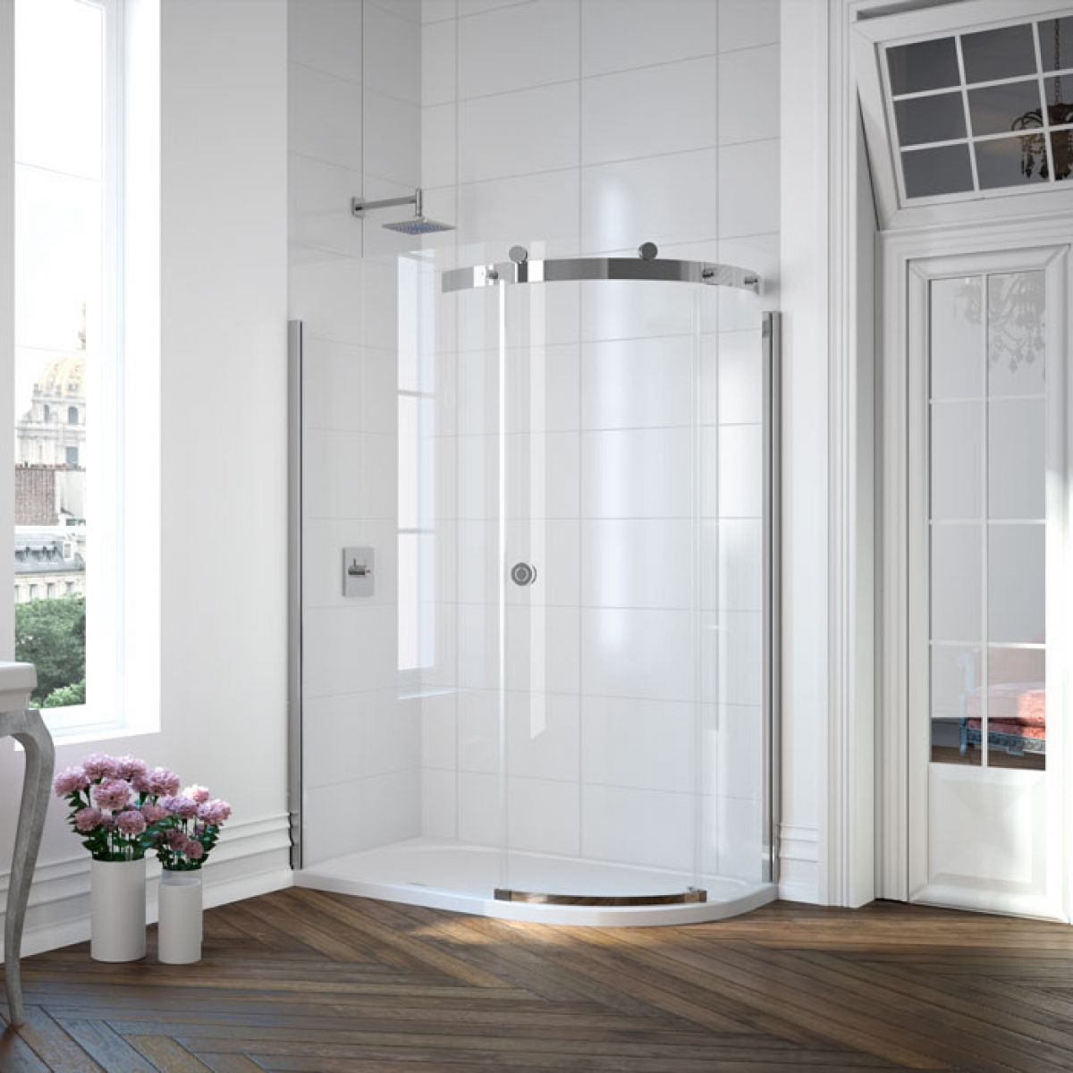 Merlyn Series 10 Offset Quadrant Sliding Shower Enclosure