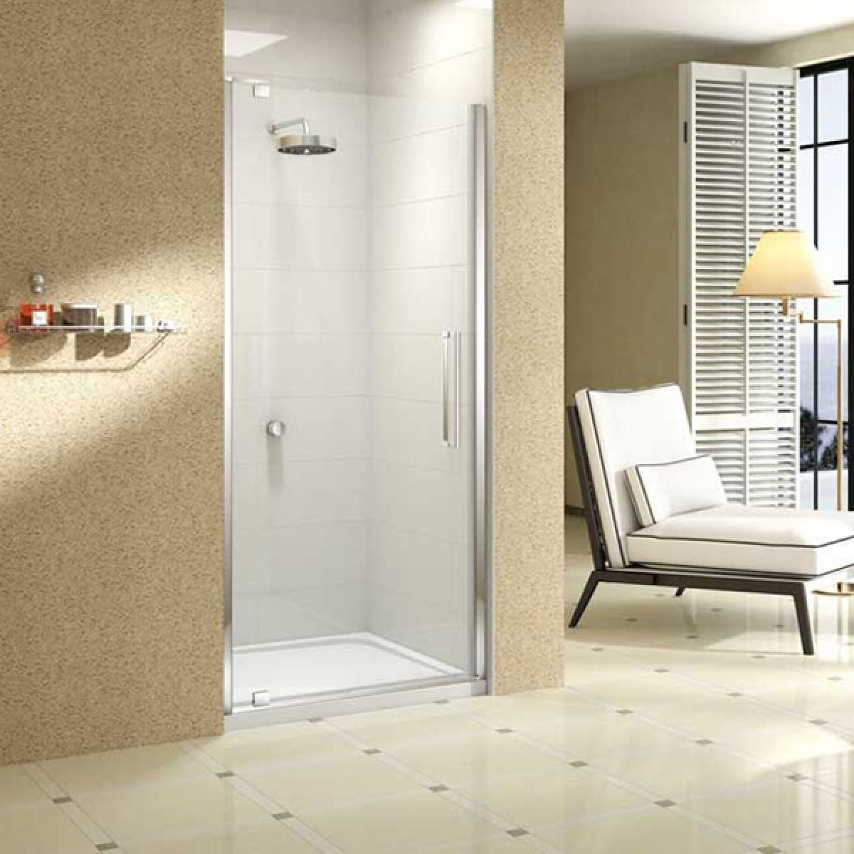 Merlyn Series 10 Pivot Door with Optional Side Panel