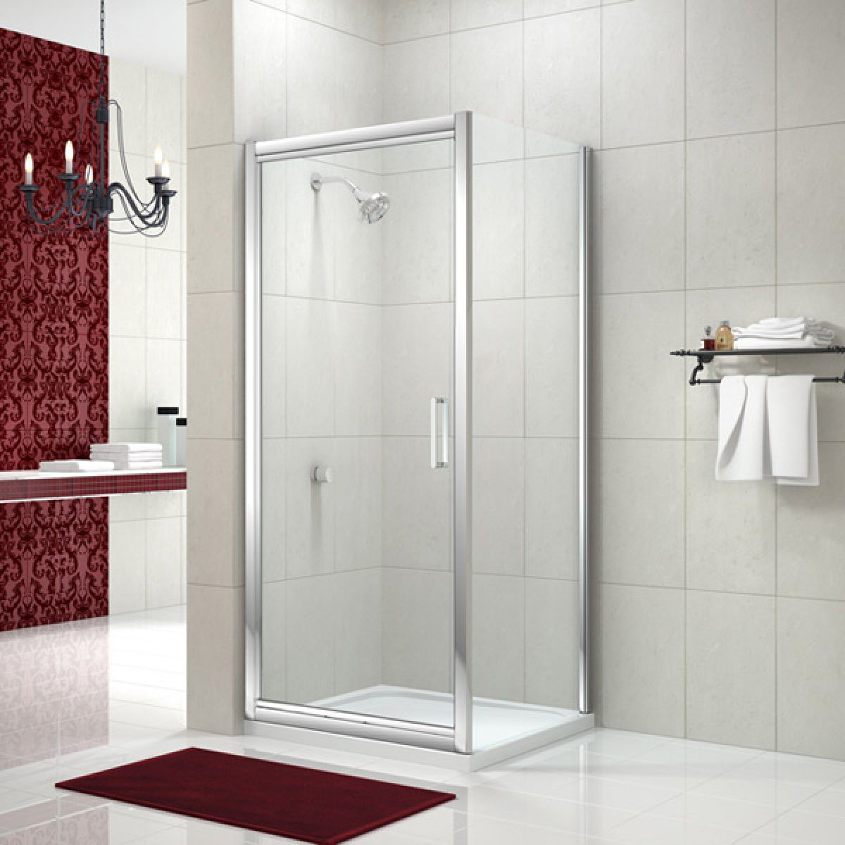 Merlyn Series 8 In-Fold Shower Door with Optional Side Panel