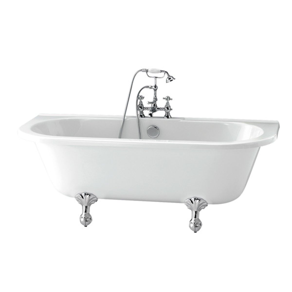 Moods Finchley Freestanding Back To Wall Bath 1680mm x 740mm 0 Tap Hole