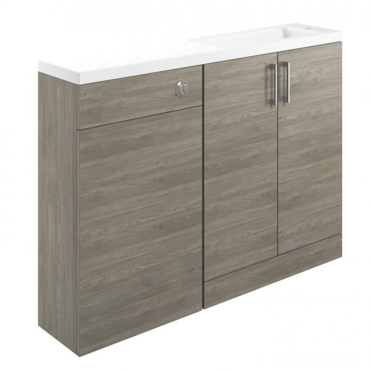 Moods Volta Grey Nordic Wood Vanity Unit/WC Pack with Basin 1207mm
