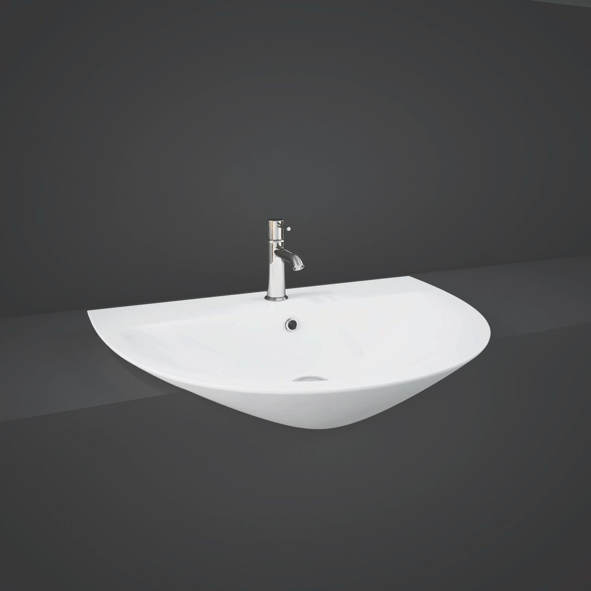 RAK Morning Semi Recessed Basin 550mm