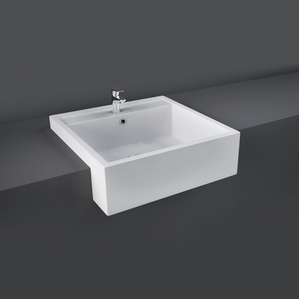 RAK Nova Semi Recessed 1 Tap Hole Basin