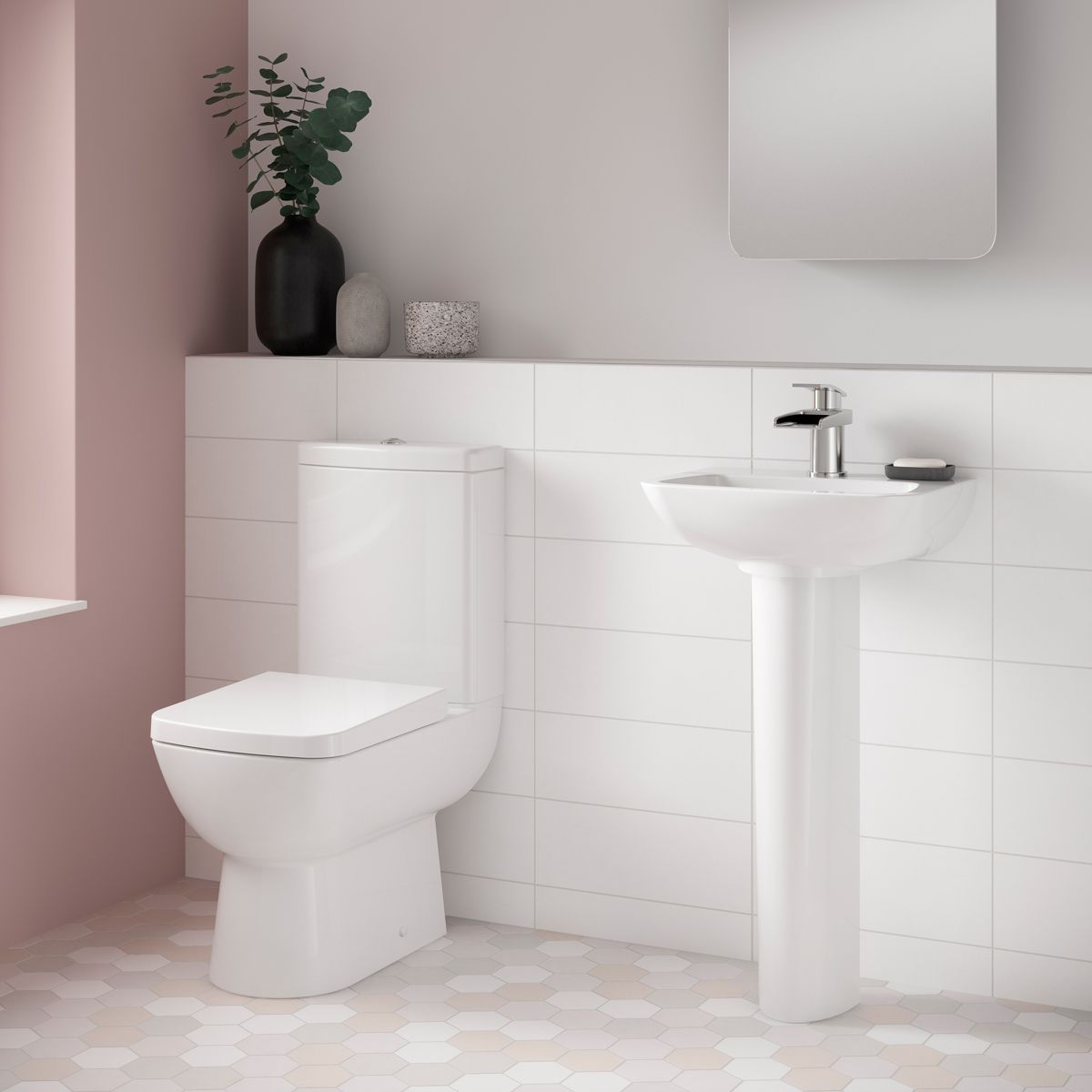 Nuie Ambrose Toilet and Basin Set