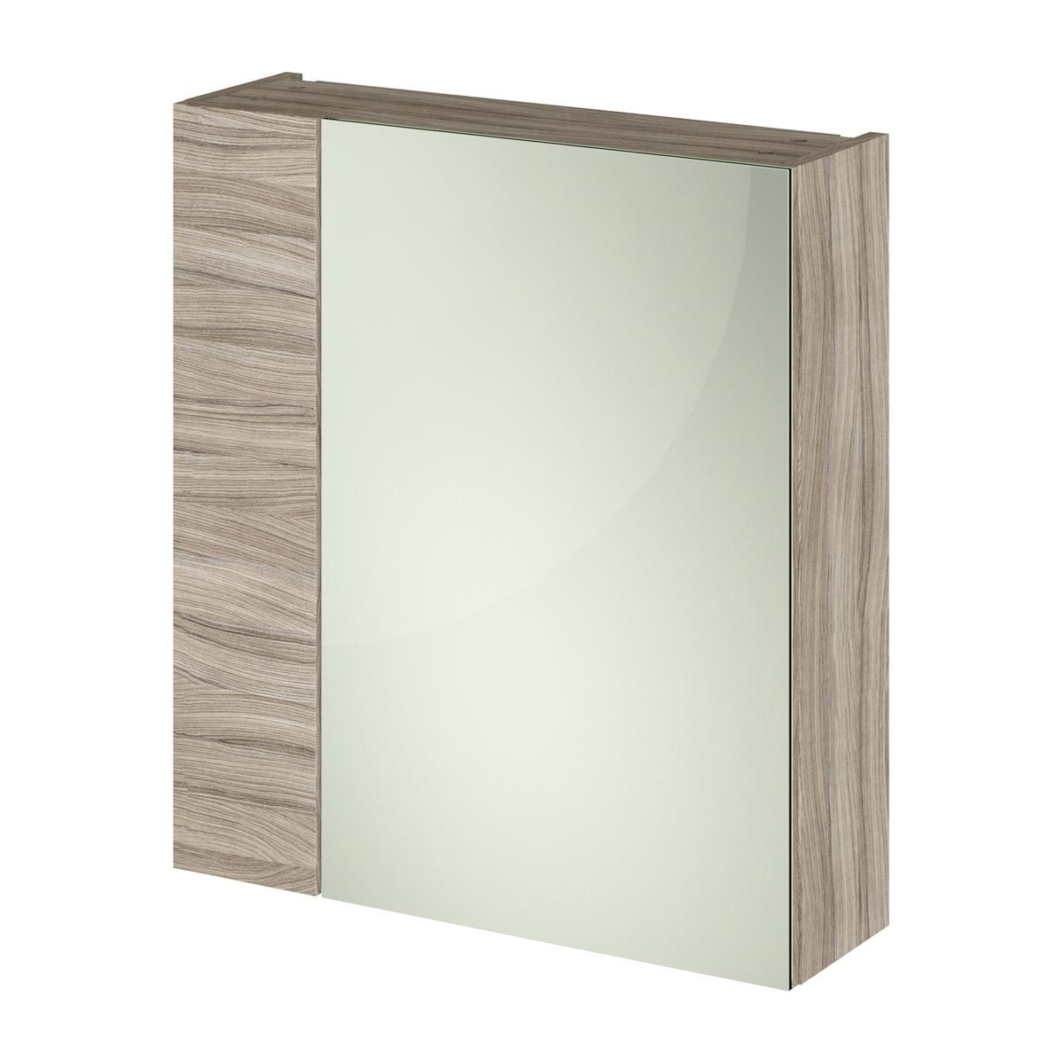 Nuie Athena Driftwood Double Mirrored Bathroom Cabinet 600mm
