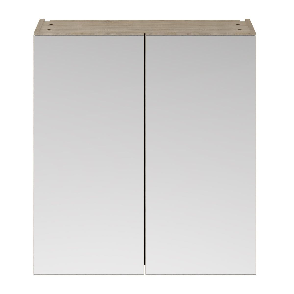 Nuie Athena Driftwood Double Mirrored Bathroom Cabinet 800mm