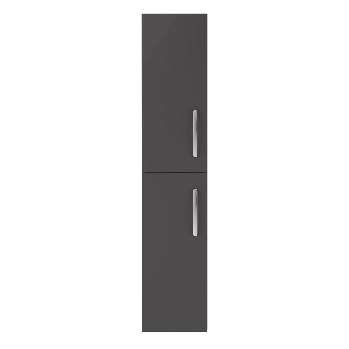 Nuie Athena Gloss Grey Double Door Tall Unit 300mm