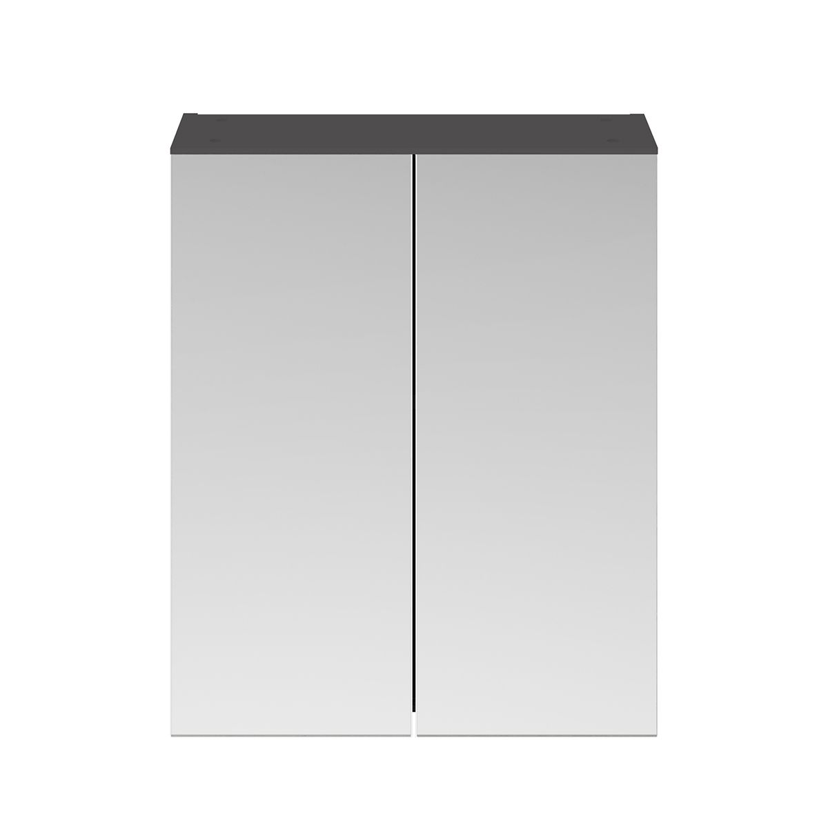 Nuie Athena Gloss Grey Double Mirrored Bathroom Cabinet