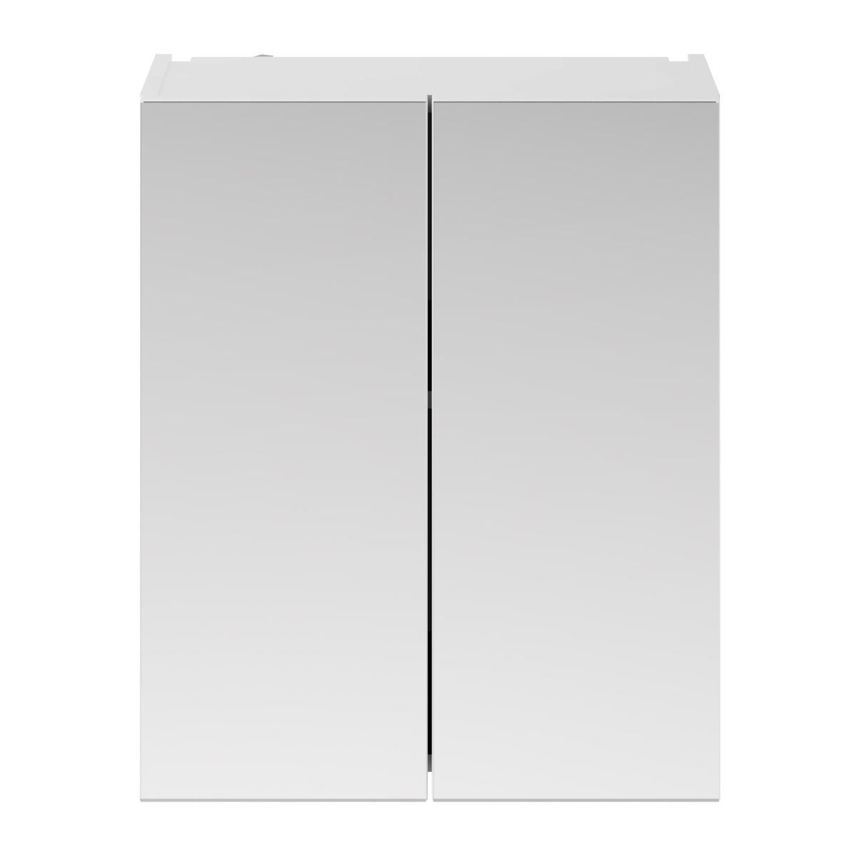Nuie Athena Gloss White Double Mirrored Bathroom Cabinet