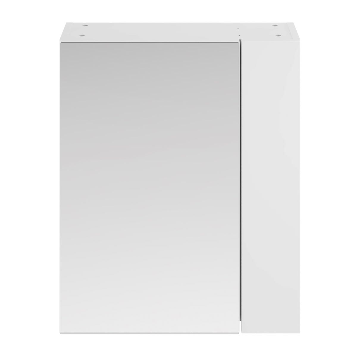 Nuie Athena Gloss White Double Mirrored Bathroom Cabinet 600mm