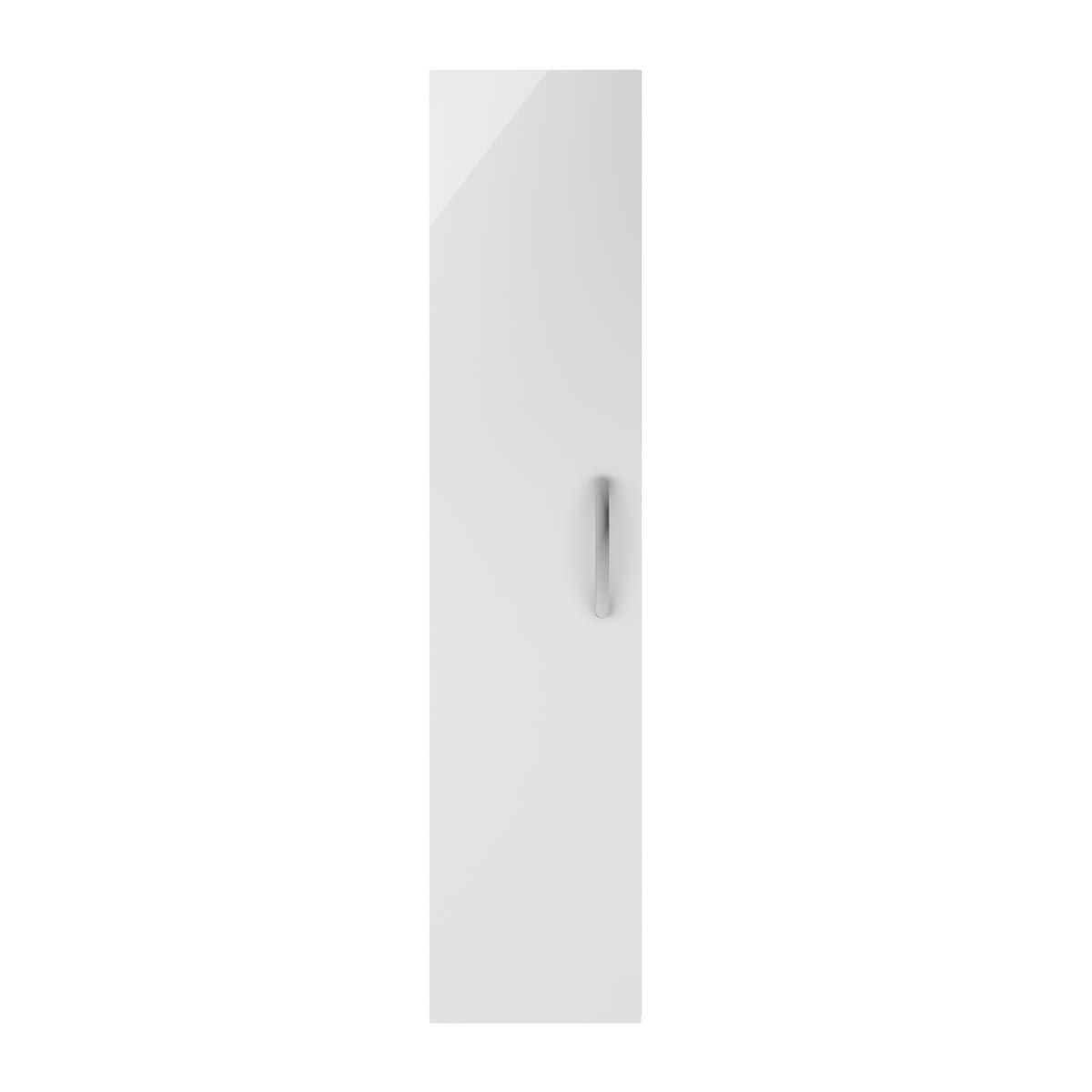 Nuie Athena Gloss White Single Door Tall Unit 300mm