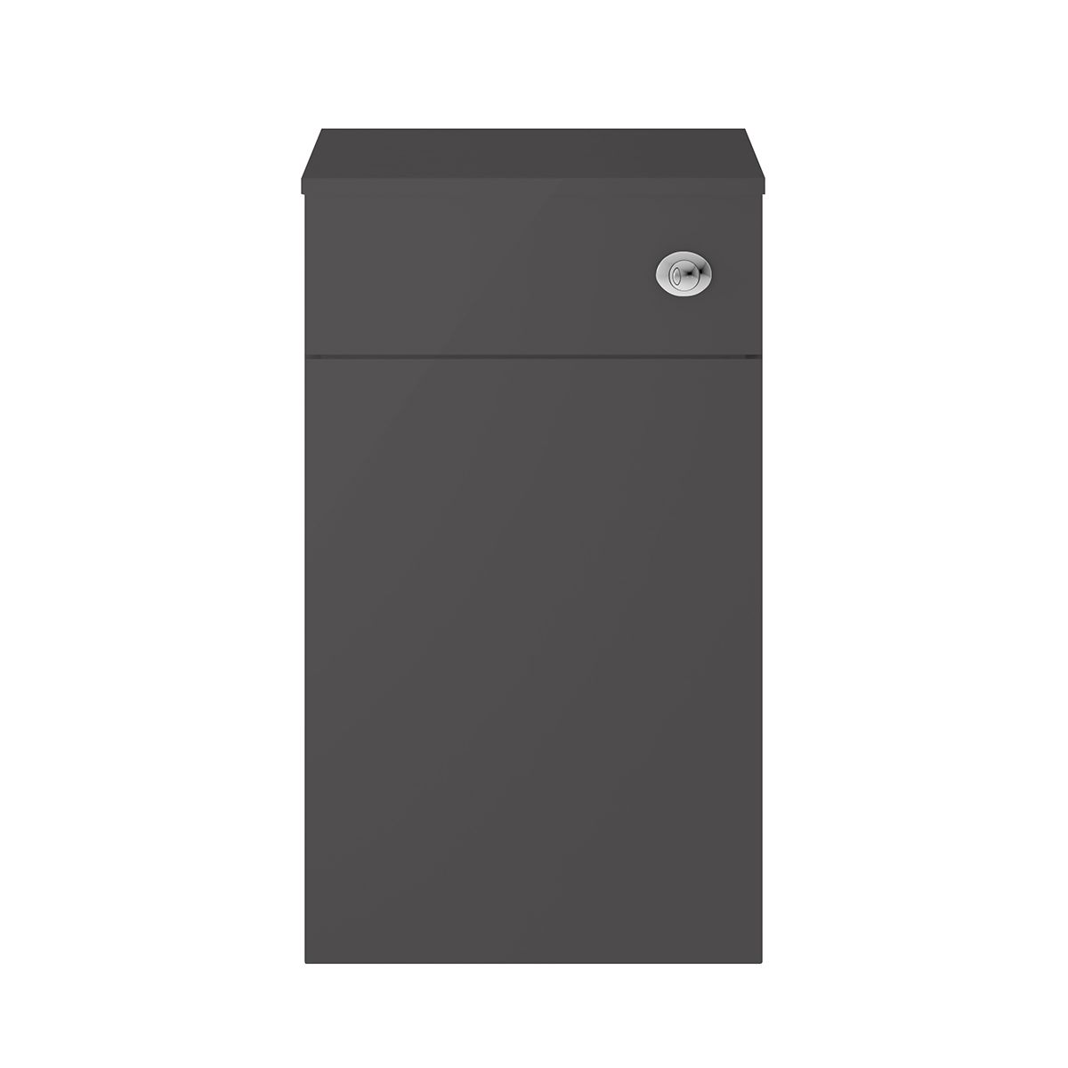 Nuie Athena Gloss Grey Toilet WC Unit 500mm