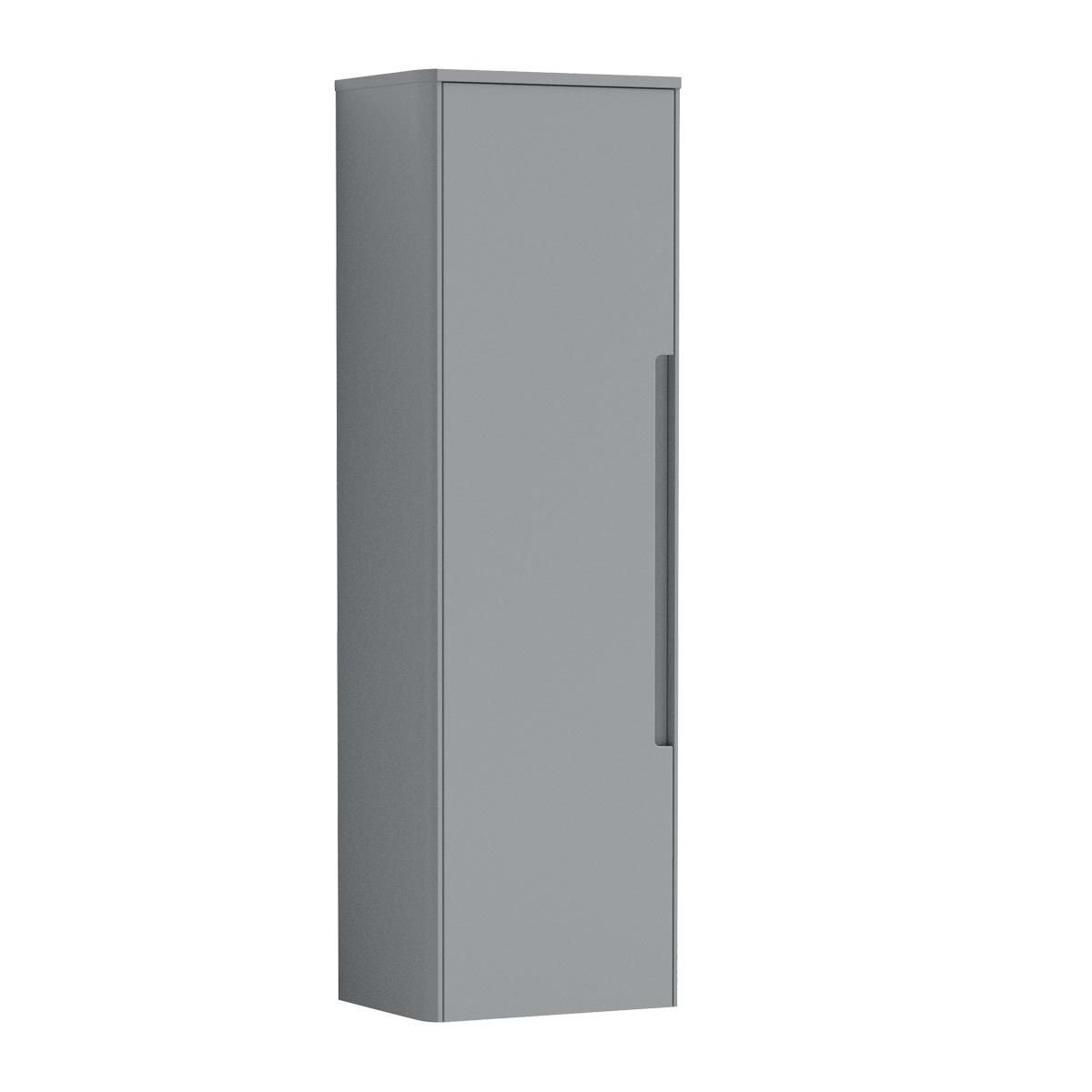 Nuie Elbe Grey Wall Hung Tall Unit 350mm