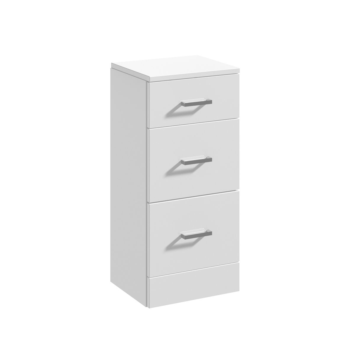 Nuie High Gloss White 3 Drawer Unit 350 x 300mm