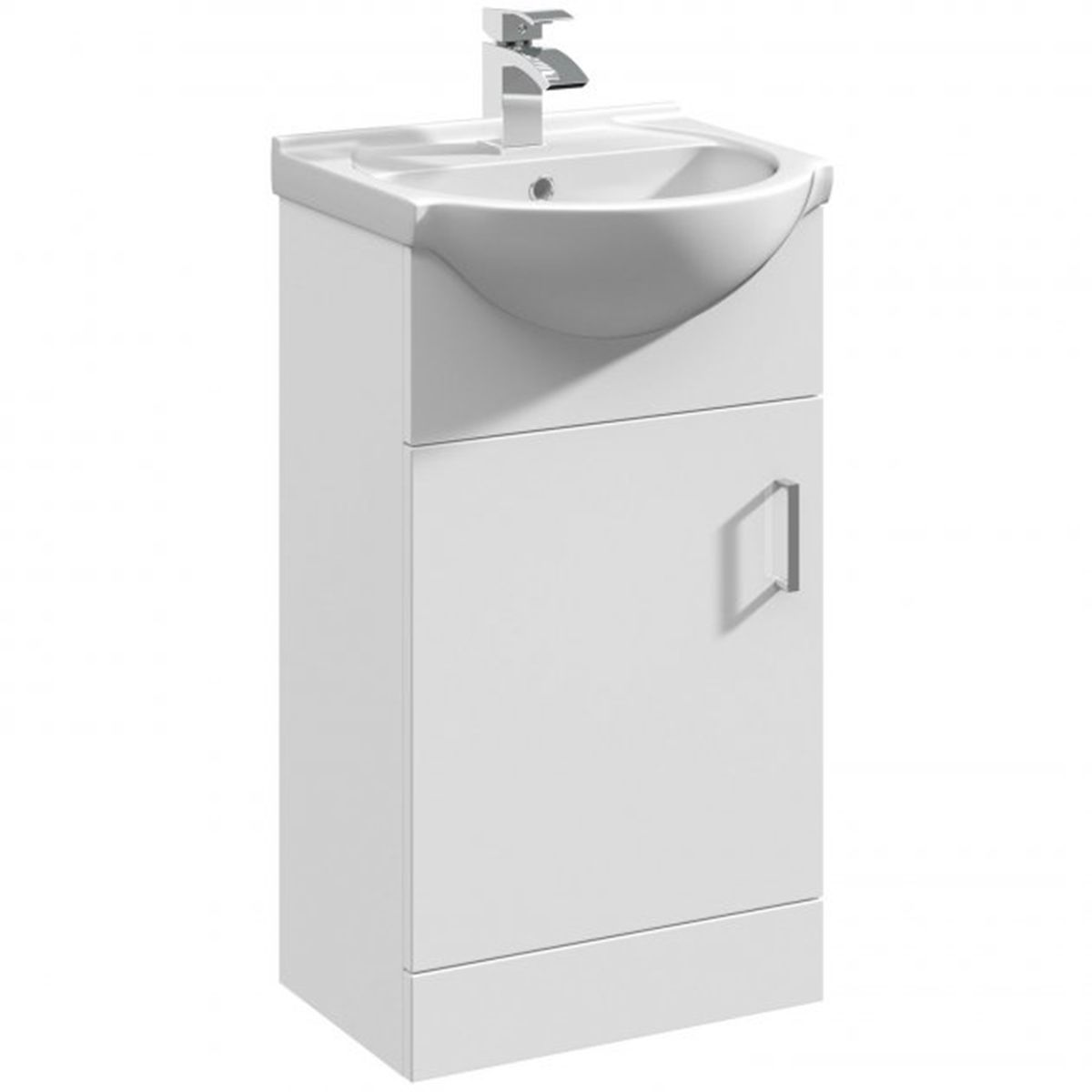 Nuie Mayford White Gloss Basin Unit 450mm