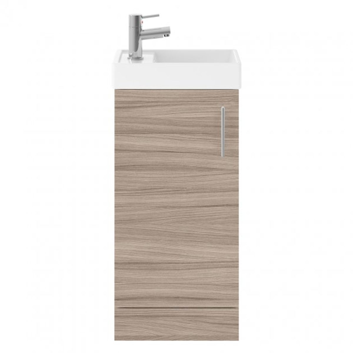 Nuie Vault Driftwood Floor Standing Single Door Vanity & Basin 400mm
