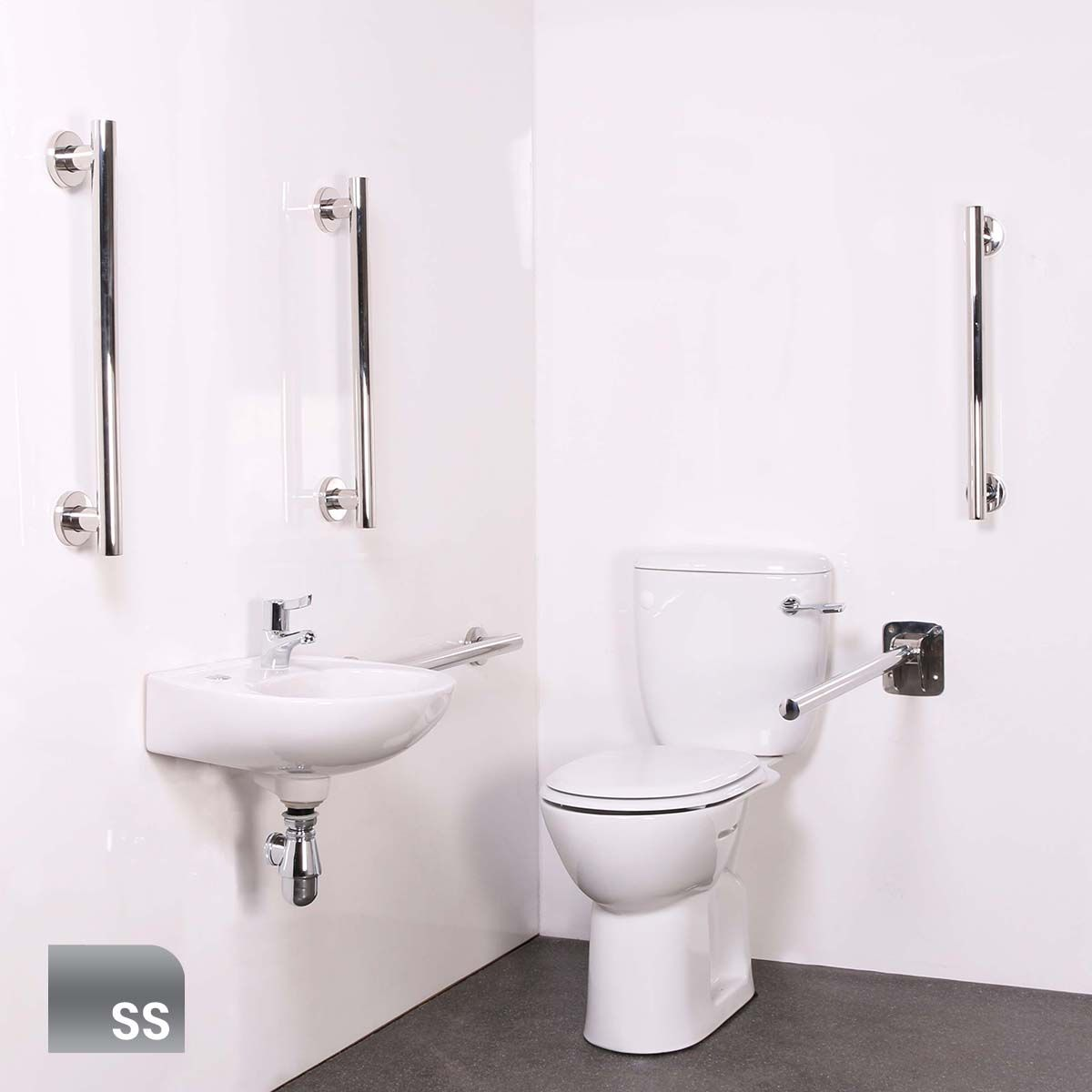 Nymas Luxury Close Coupled Satin Stainless Steel Doc M Pack