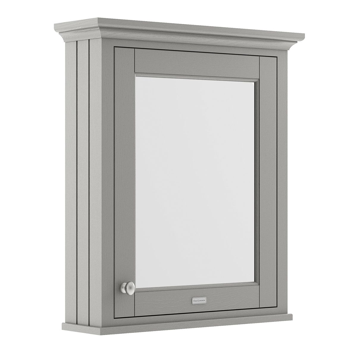 Old London Storm Grey Mirror Cabinet 600mm