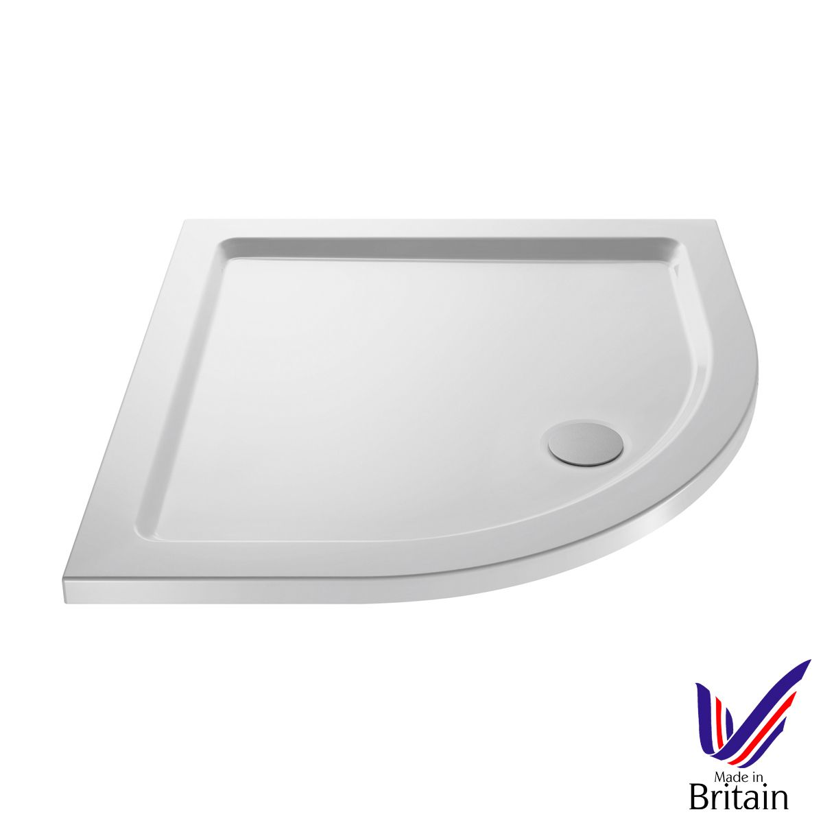 1000 x 1000 Shower Tray Quadrant Low Profile by Pearlstone