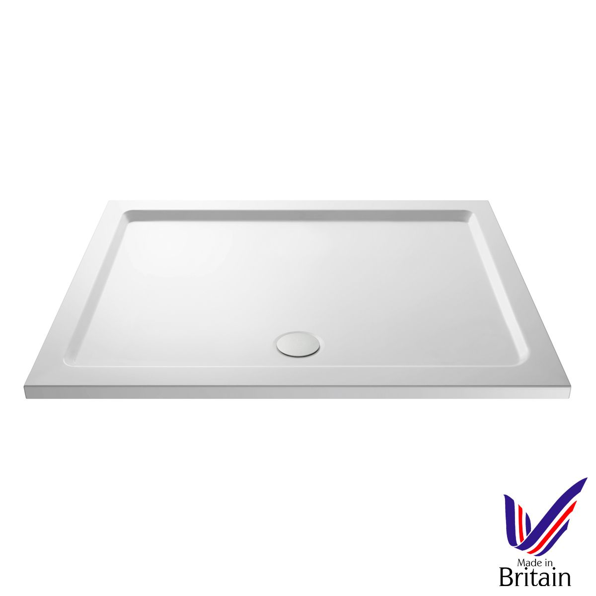 1700 x 800 Shower Tray Rectangular Low Profile by Pearlstone